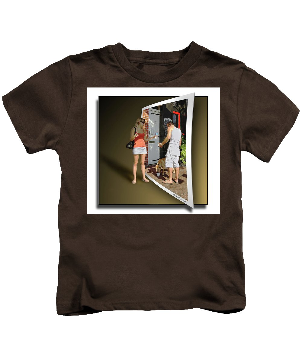 2d Kids T-Shirt featuring the photograph Worlds Apart by Brian Wallace