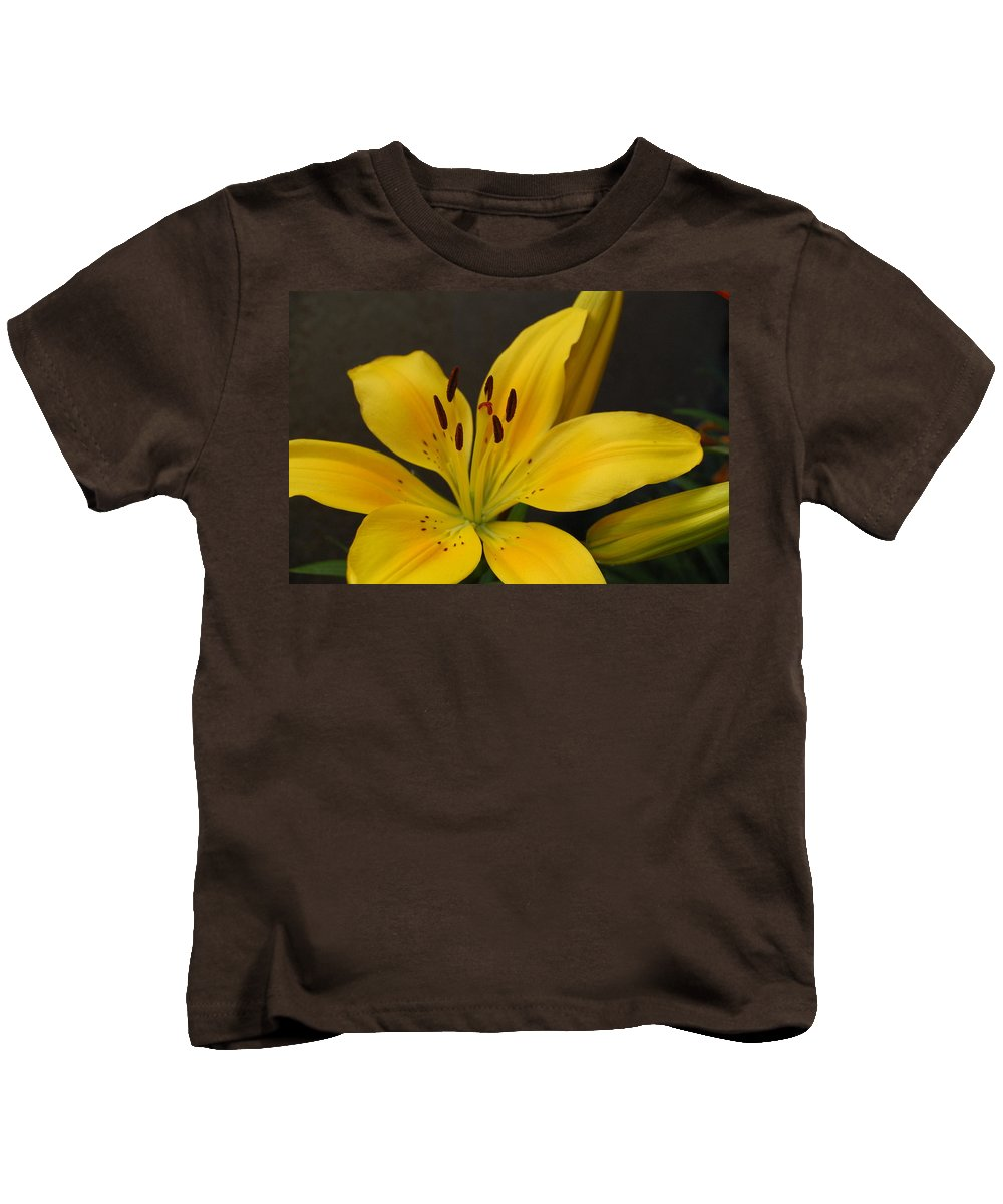 Flower Kids T-Shirt featuring the photograph Yellow Lily 1 by Amy Fose