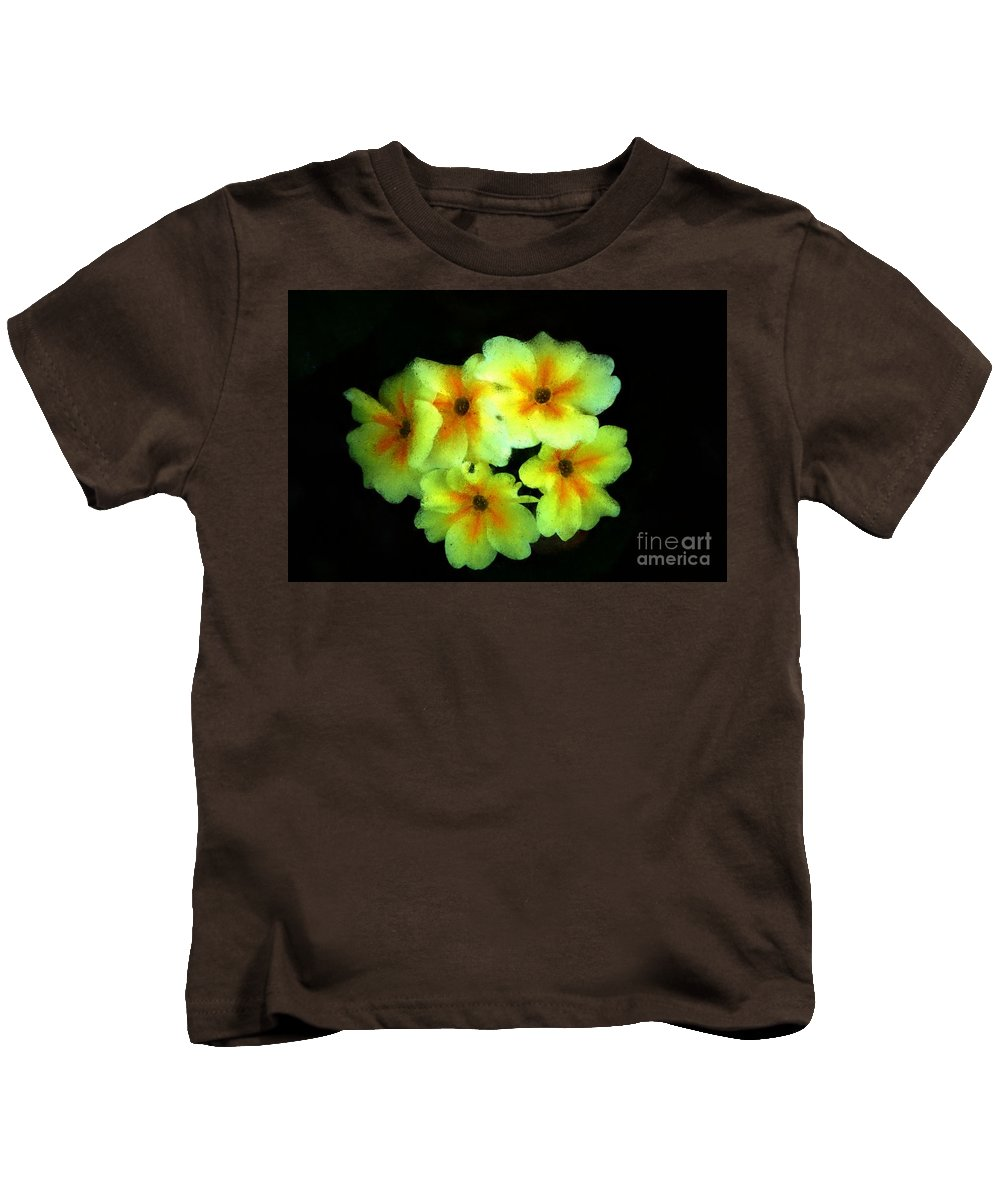 Digital Photo Kids T-Shirt featuring the photograph Yellow Primrose 5-25-09 by David Lane