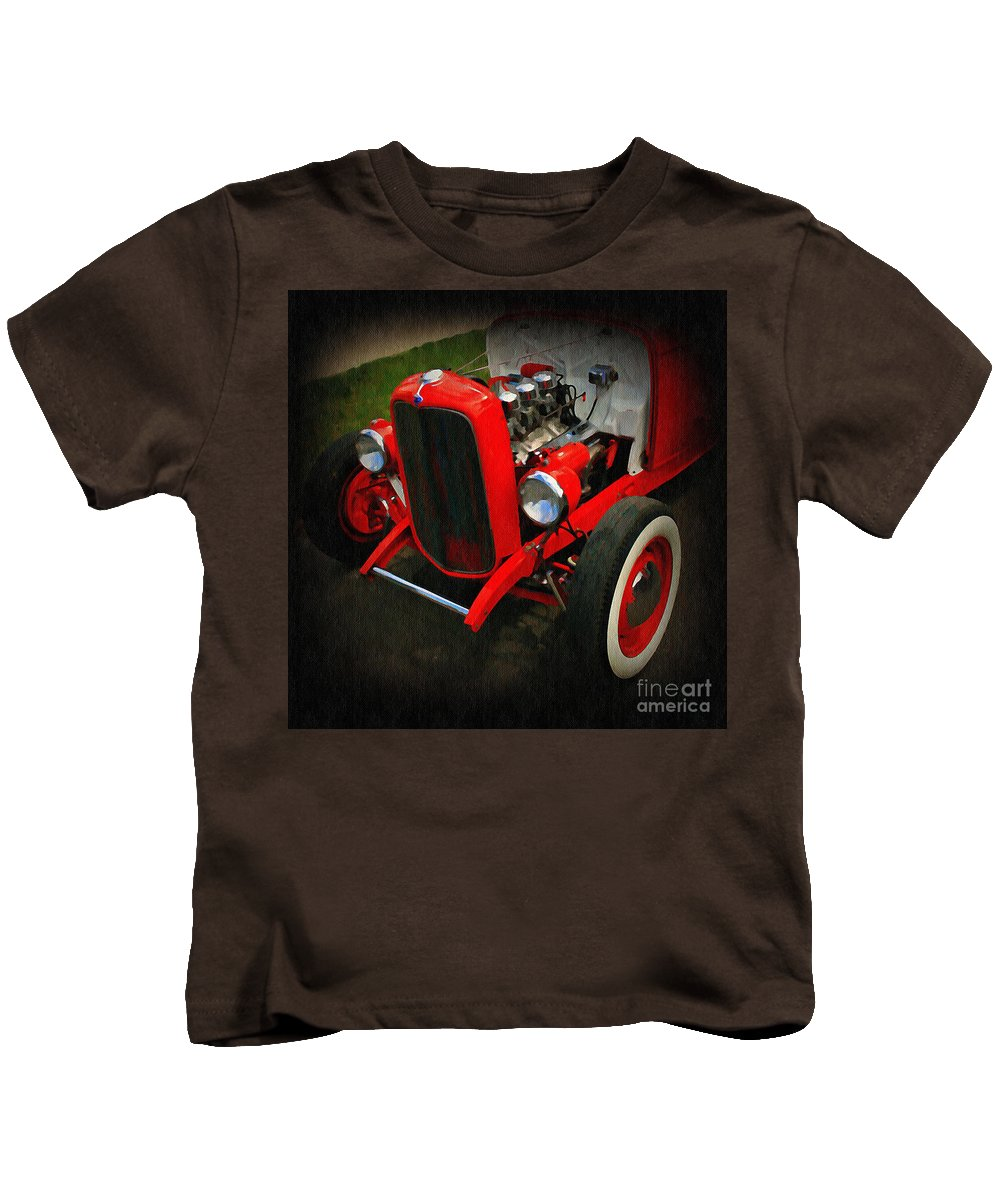 Car Kids T-Shirt featuring the photograph Yesterday Classic by Perry Webster