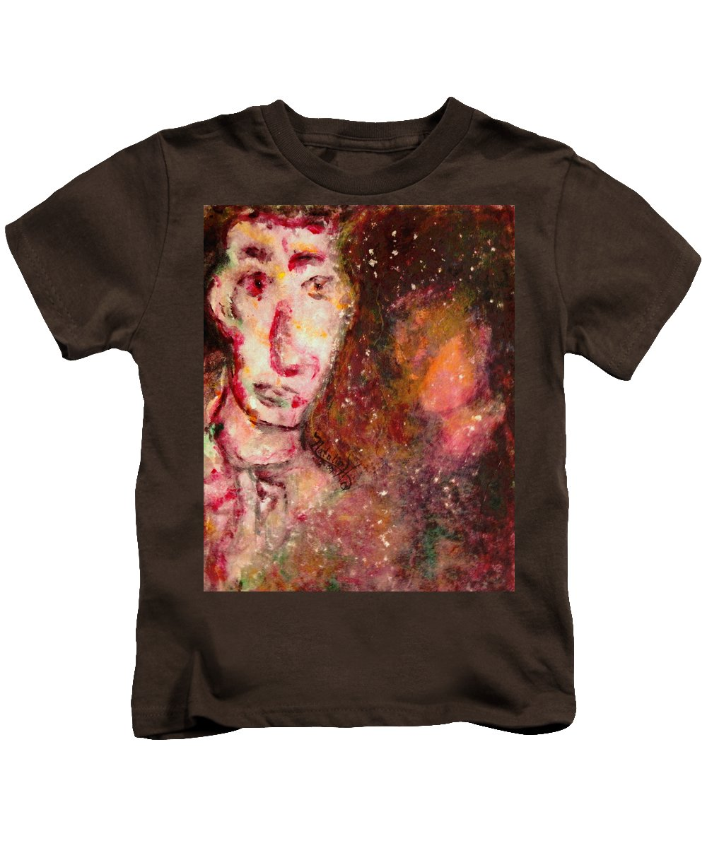 Free Expressionsim Kids T-Shirt featuring the painting You Are Always On My Mind by Natalie Holland