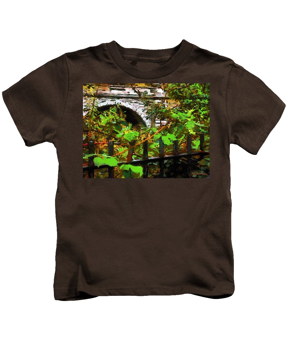 Fence Kids T-Shirt featuring the painting You Go First by RC DeWinter