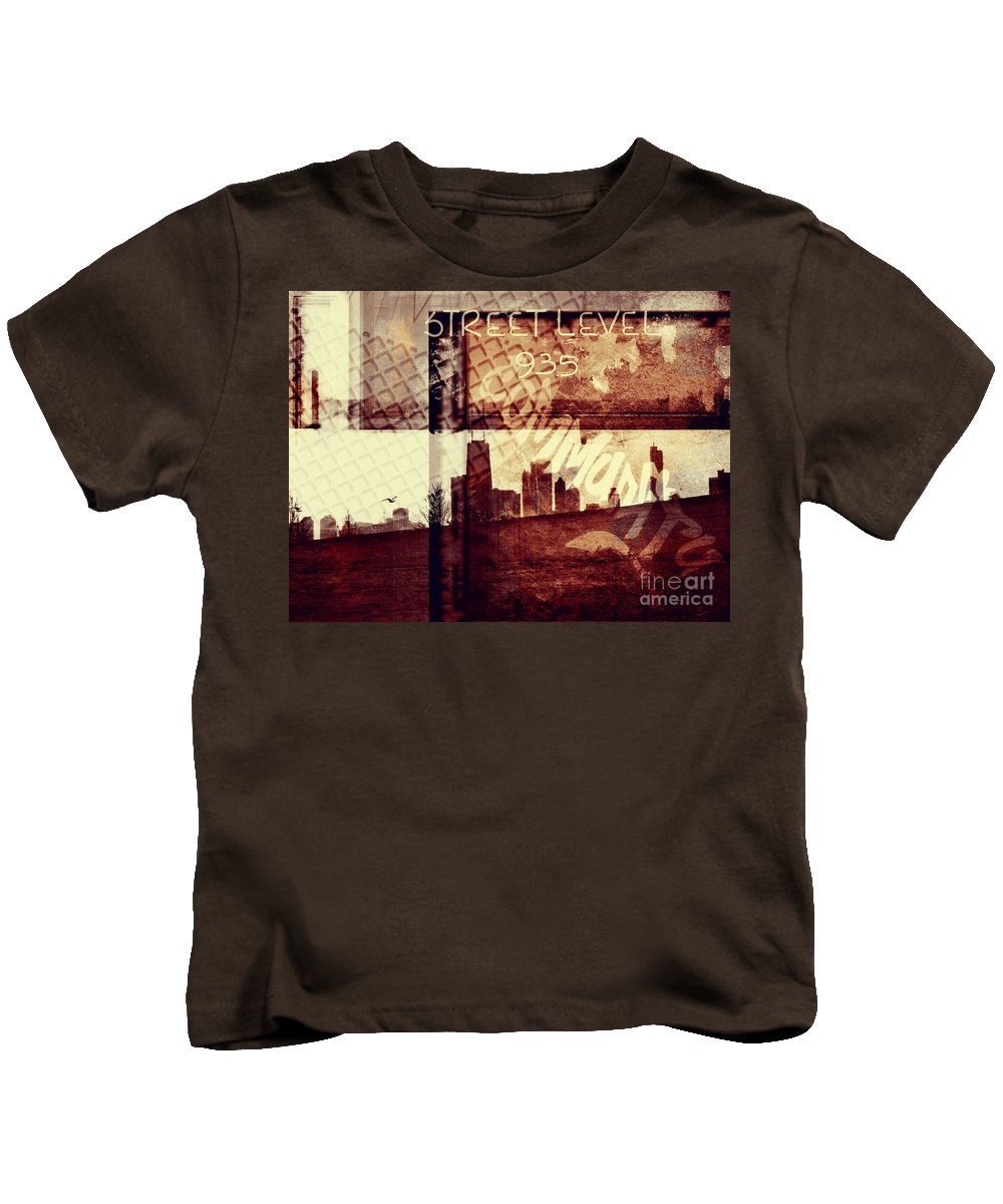 Chicago Kids T-Shirt featuring the photograph You Held My Hand Softly Through The Humid Summer Streets by Dana DiPasquale