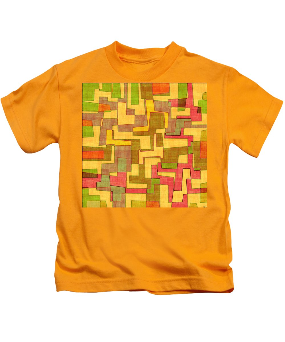 Abstract Kids T-Shirt featuring the digital art 0101 Abstract Thought by Chowdary V Arikatla