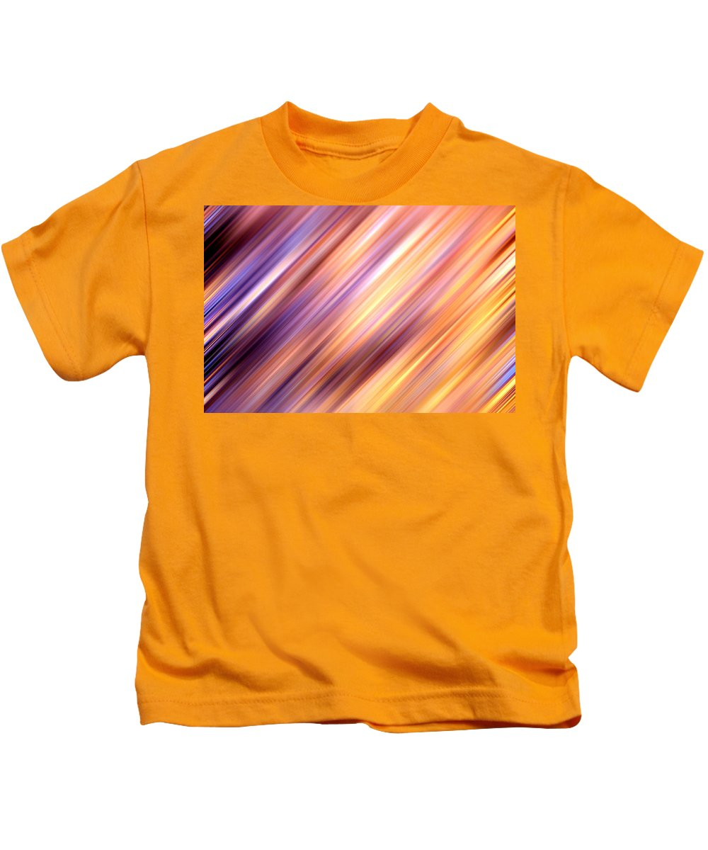 Abstract Kids T-Shirt featuring the digital art Abstract by Les Cunliffe
