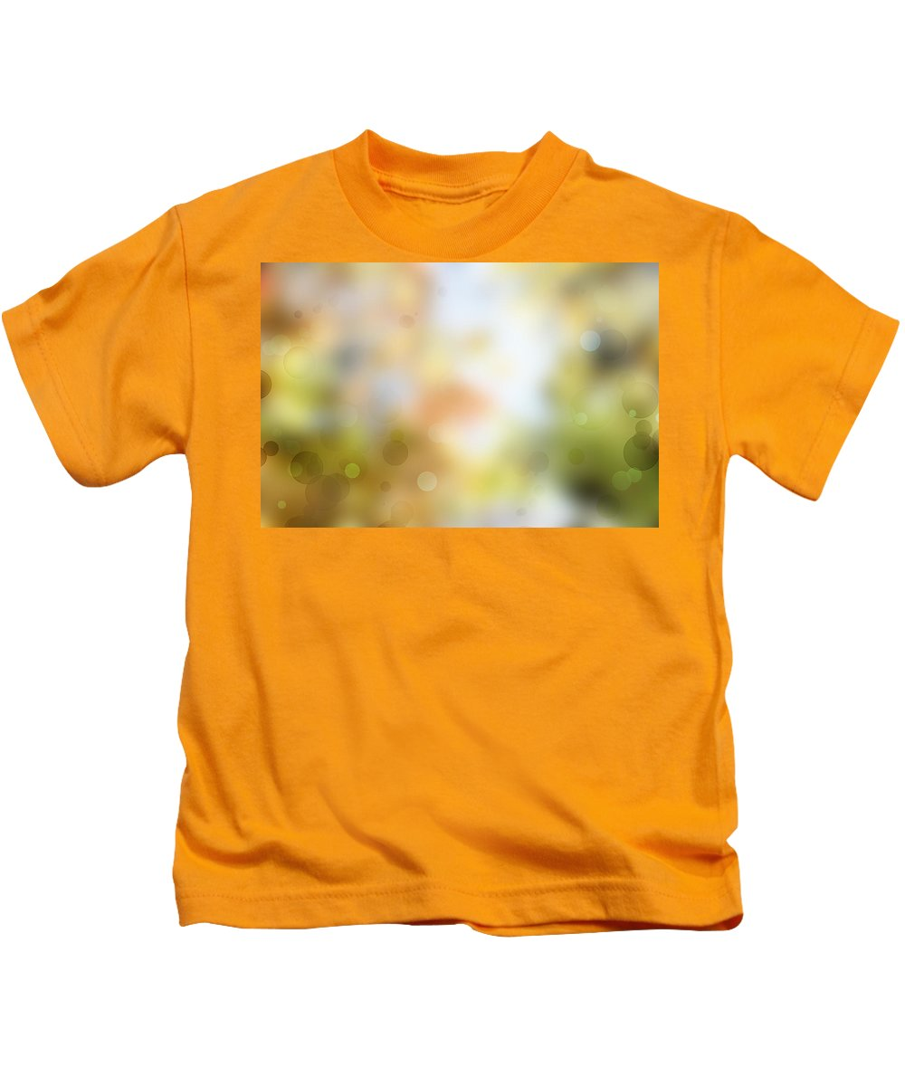 Yellow Kids T-Shirt featuring the photograph Circles Background by Les Cunliffe