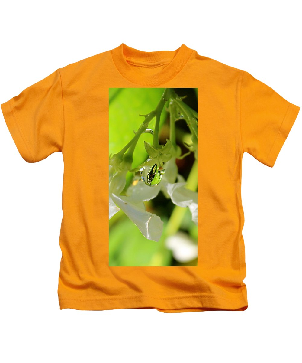 Water Drop Kids T-Shirt featuring the photograph Cover Me by Kume Bryant