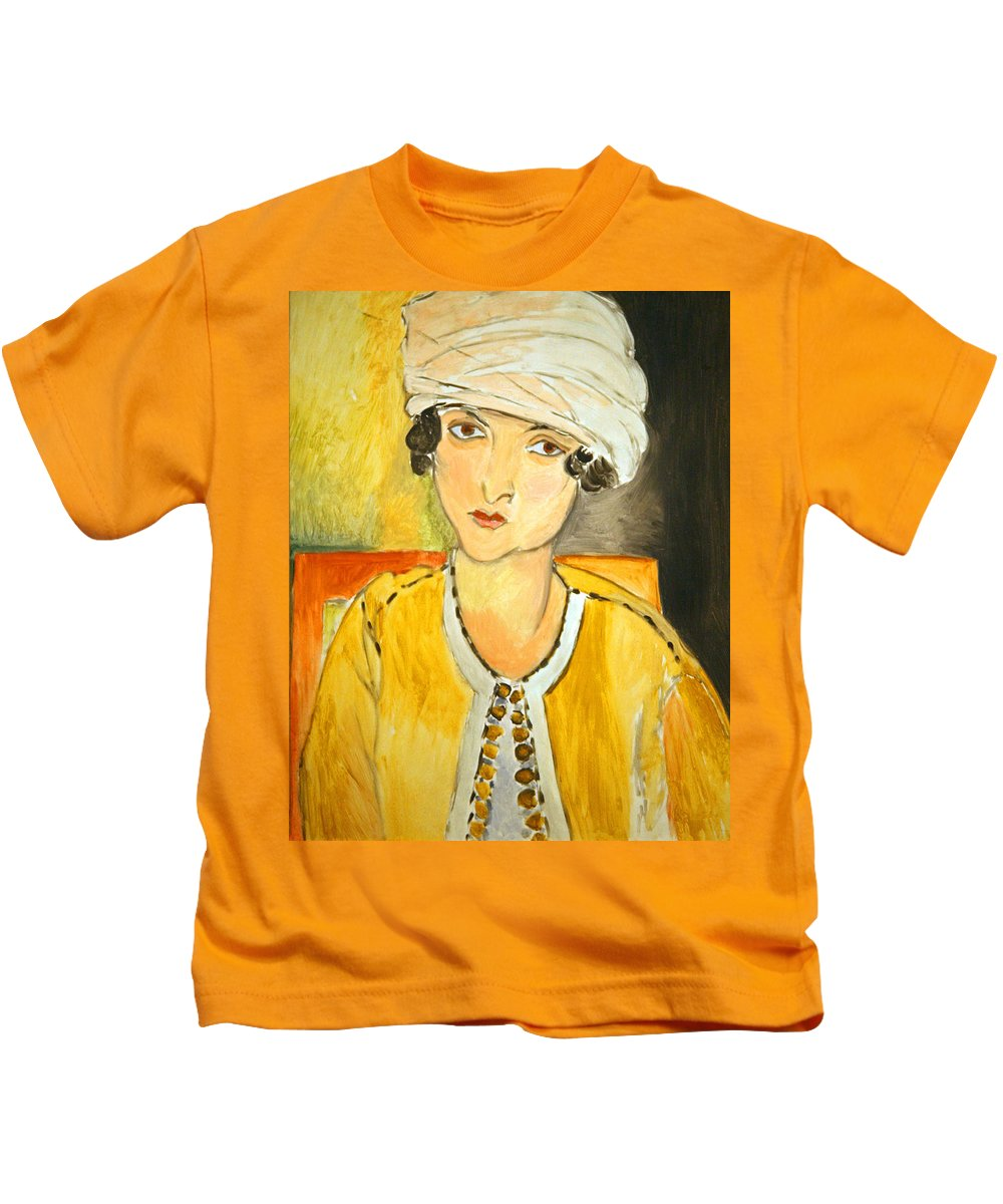 Lorette With Turban Kids T-Shirt featuring the photograph Matisse's Lorette With Turban And Yellow Jacket by Cora Wandel