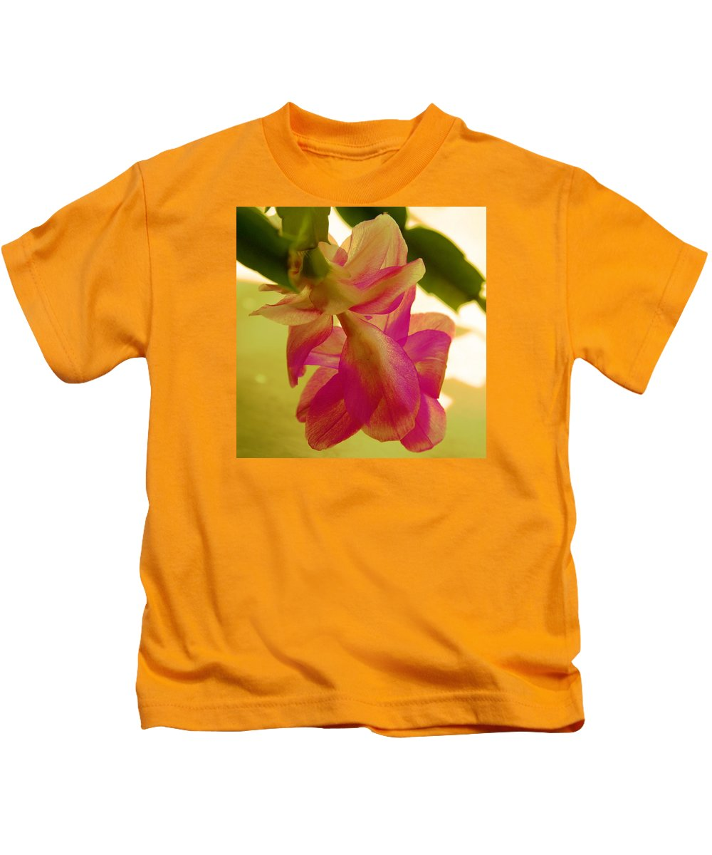 Digital Flower Kids T-Shirt featuring the photograph Easter Cactus by Christiane Schulze Art And Photography