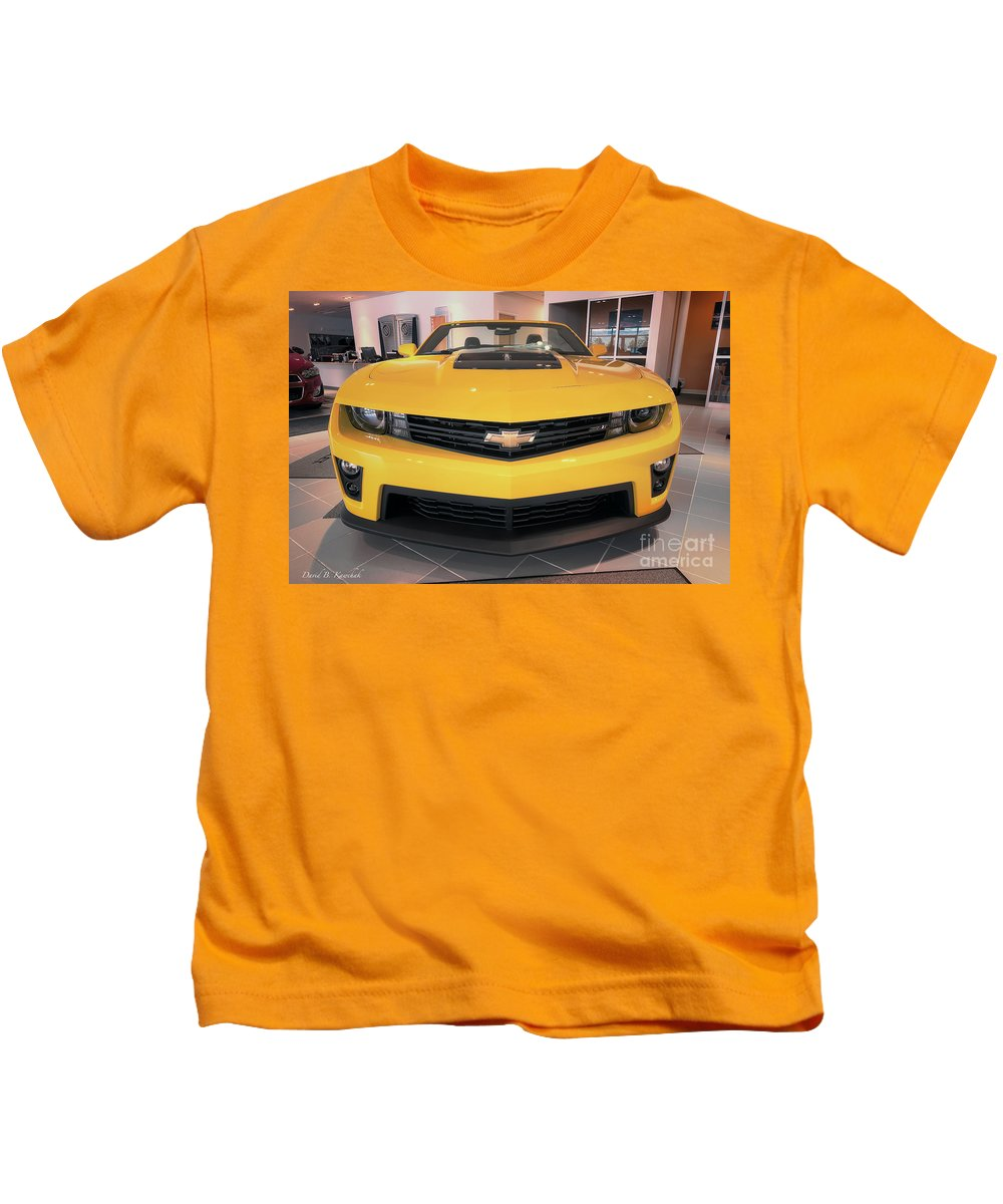 2014 Camaro Convertible Kids T-Shirt featuring the photograph 2014 Chevy Camaro by David B Kawchak Custom Classic Photography