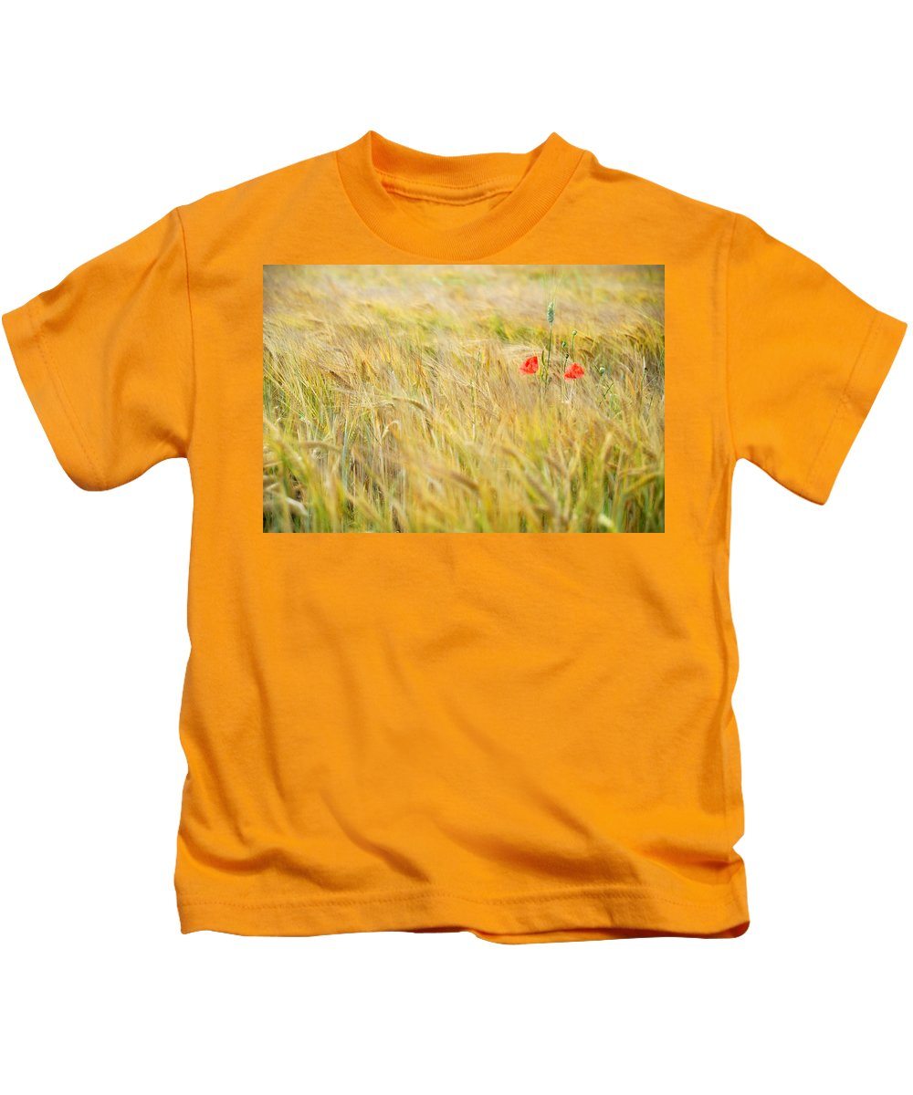 Poppy Kids T-Shirt featuring the photograph Poppies by Guido Montanes Castillo