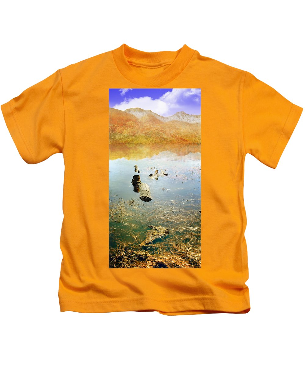 Landscape Kids T-Shirt featuring the photograph Above And Below by John Anderson