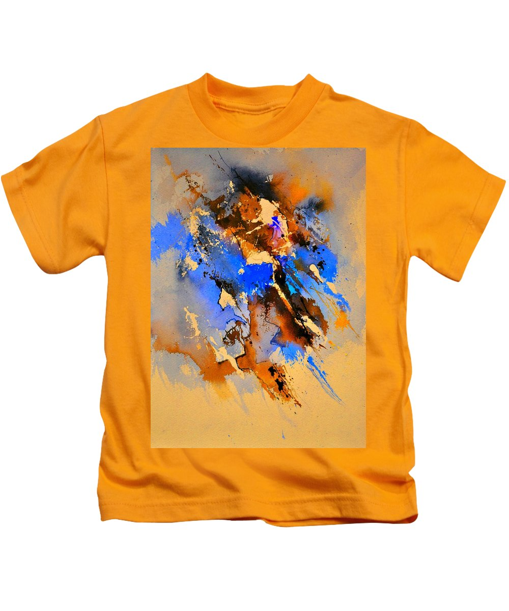 Abstract Kids T-Shirt featuring the painting Abstract 4110212 by Pol Ledent