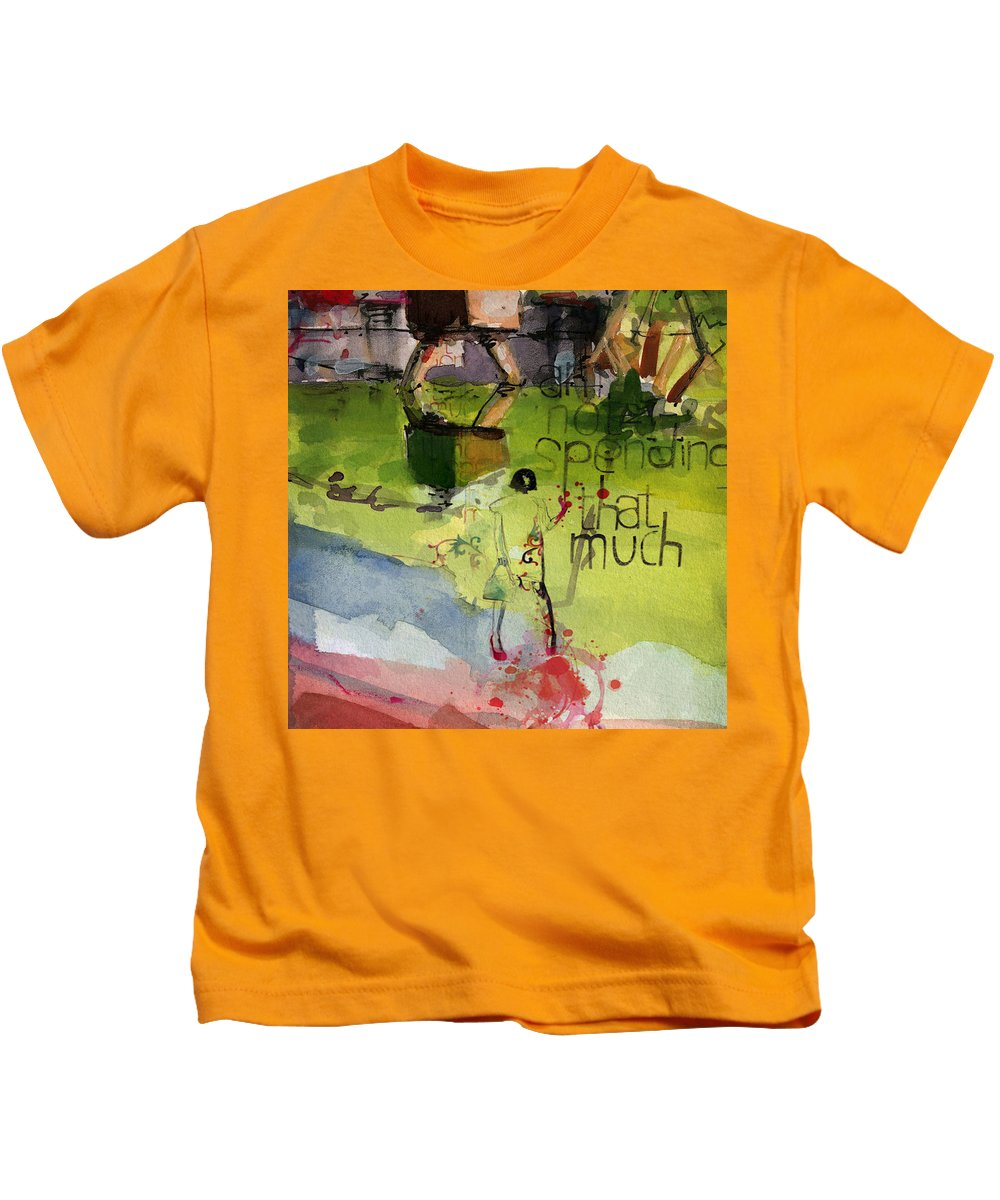 Women Kids T-Shirt featuring the painting Abstract Women 023 by Corporate Art Task Force
