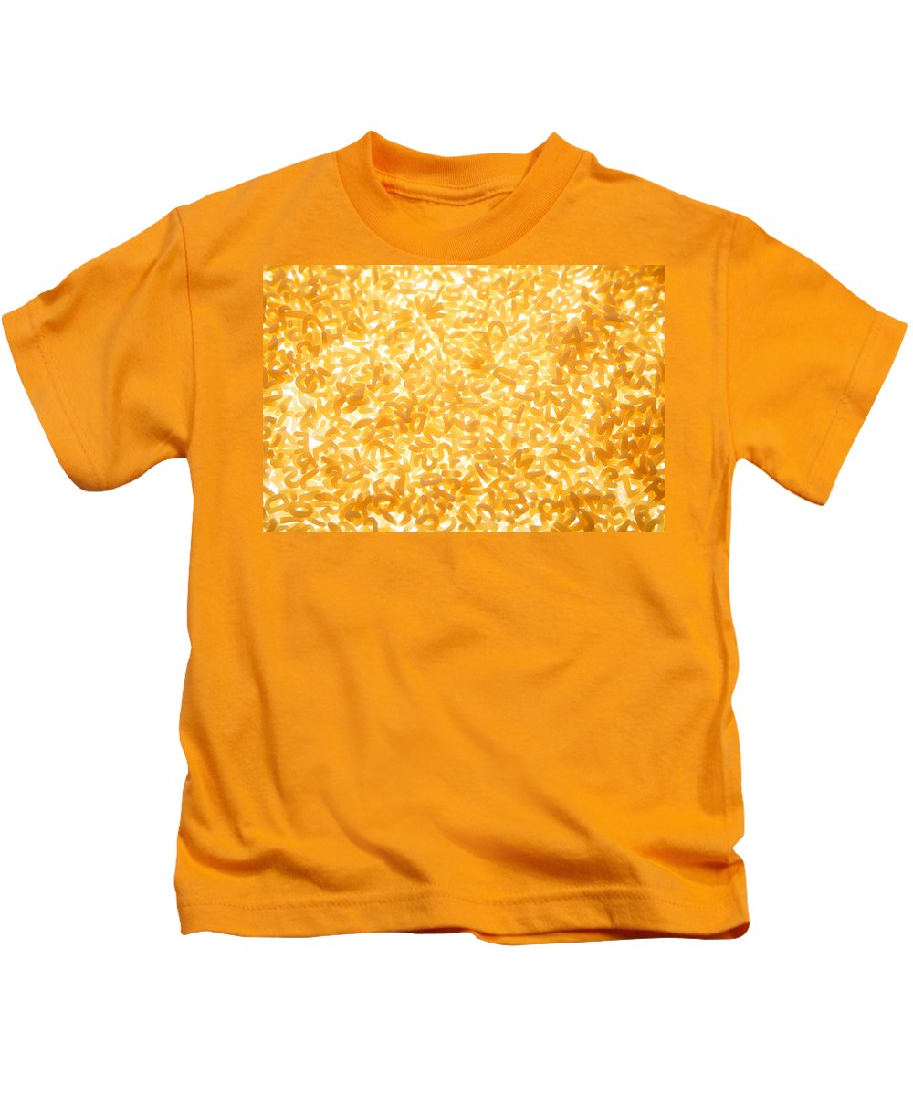 Pasta Kids T-Shirt featuring the photograph Alphabet Soup by Les Cunliffe