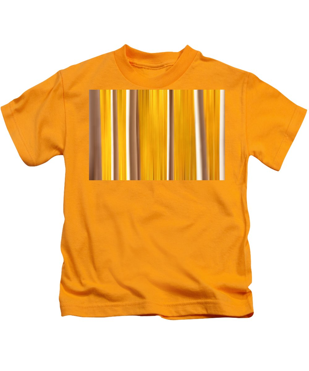 Abstract Kids T-Shirt featuring the photograph Aspens True Colors by Darren White