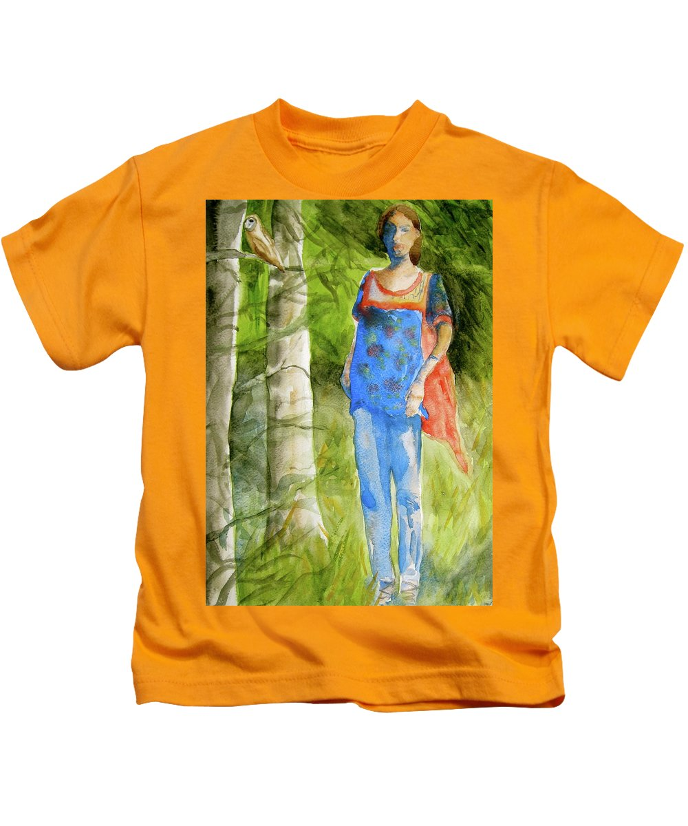 Figure Kids T-Shirt featuring the painting Bella Emerges by Beverley Harper Tinsley