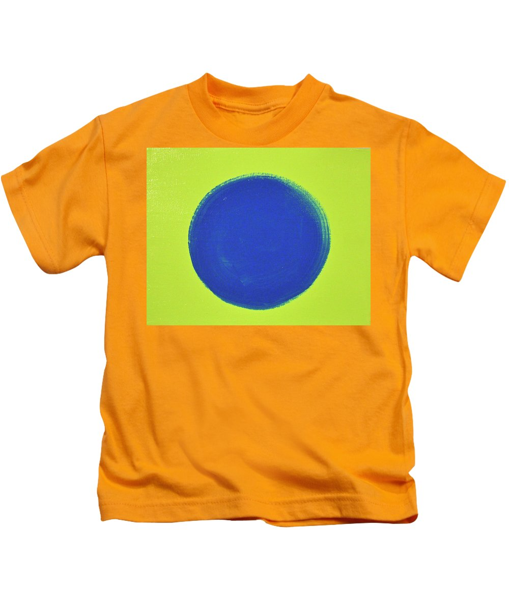 Abstract Kids T-Shirt featuring the painting Blue Circ by Kimberly Maxwell Grantier