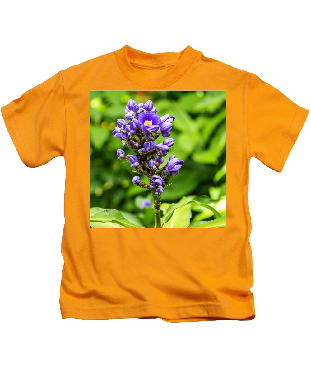 Flower Kids T-Shirt featuring the photograph Blue by Gene Norris
