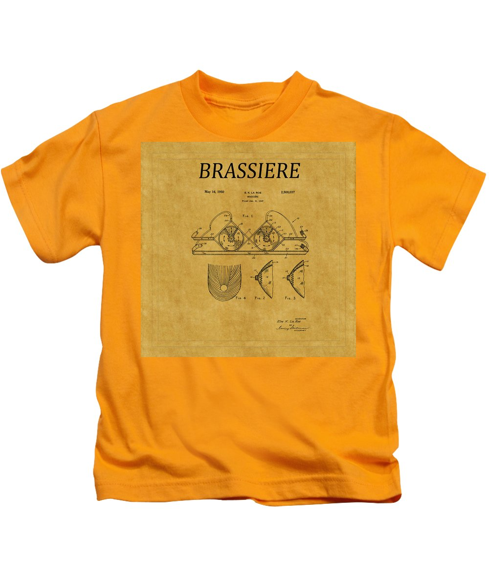 Bra Kids T-Shirt featuring the photograph Bra Patent 19 by Andrew Fare