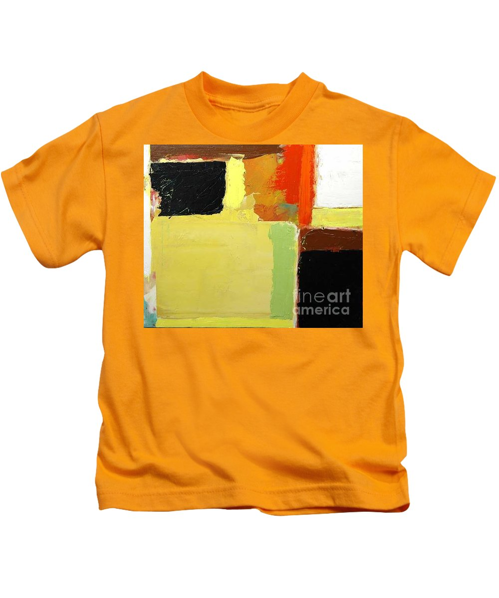 Landscape Kids T-Shirt featuring the painting Brisbane by Allan P Friedlander