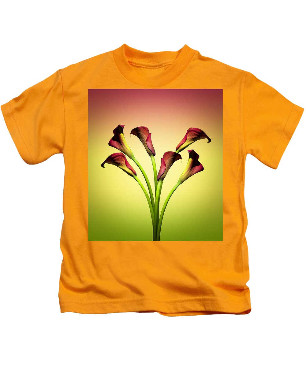 Cala Lily Kids T-Shirt featuring the photograph Cala Lily 6 by Mark Ashkenazi