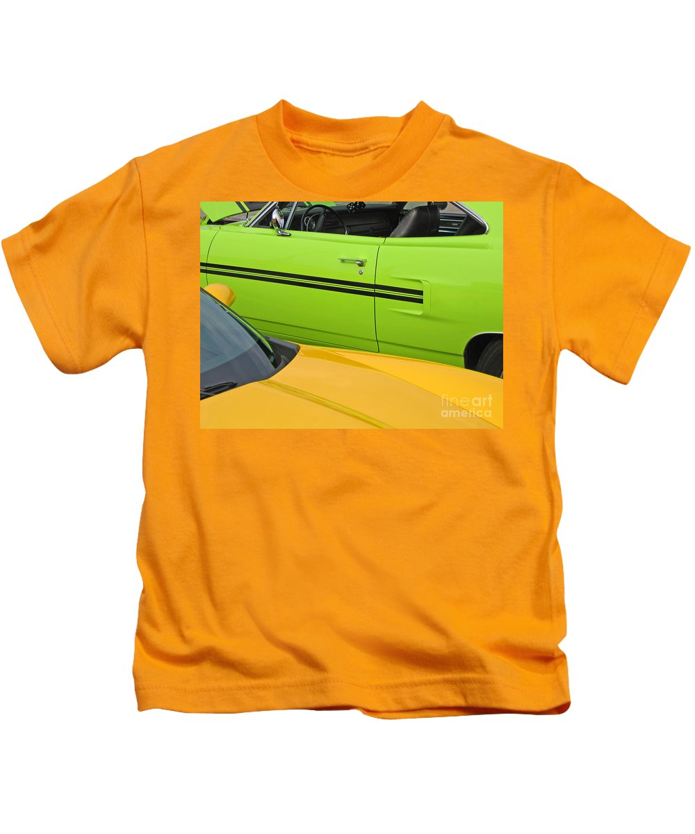 Car Kids T-Shirt featuring the photograph Classy Classics by Ann Horn