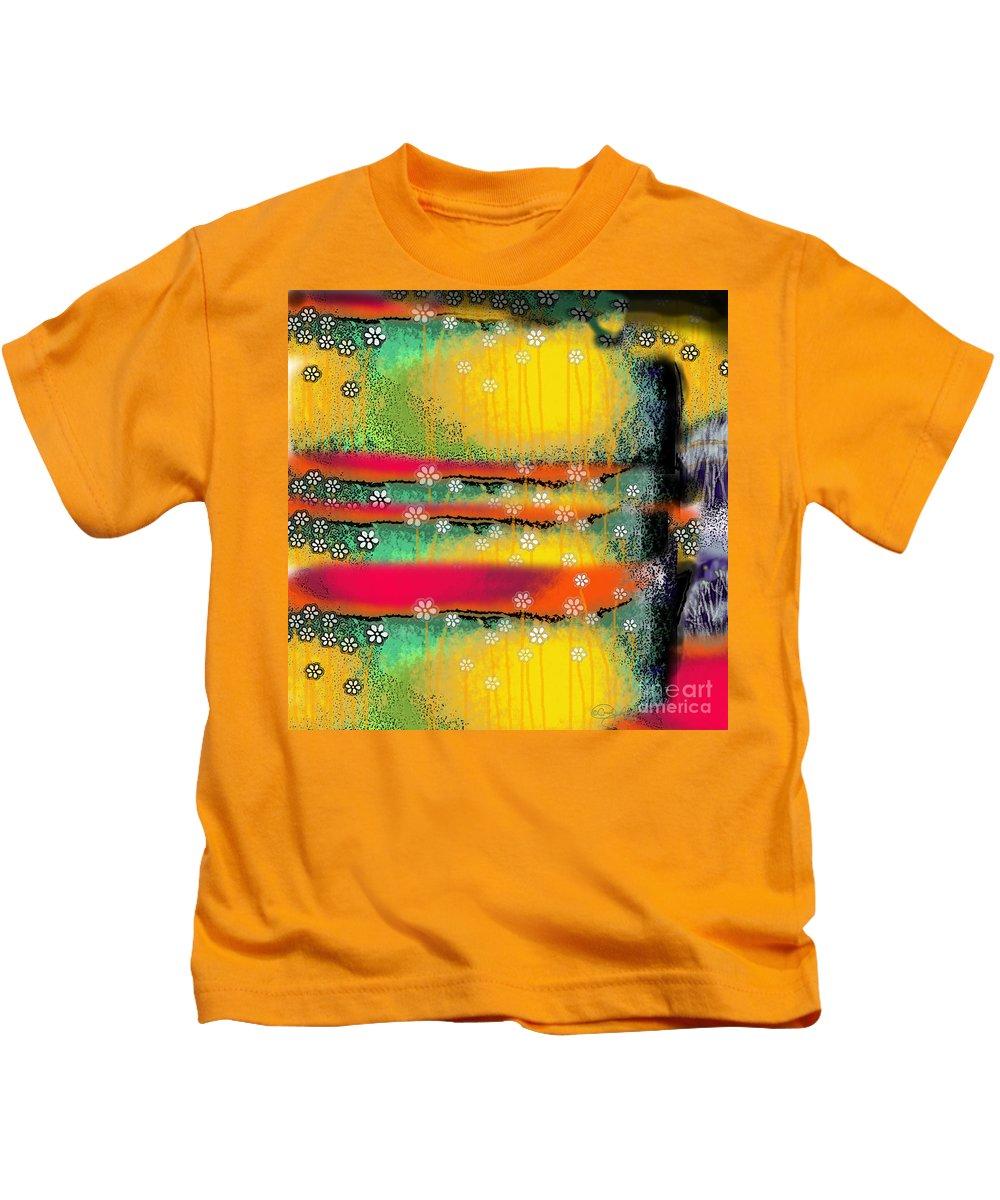 Clonescape I Kids T-Shirt featuring the digital art Clonescape I by Carol Jacobs