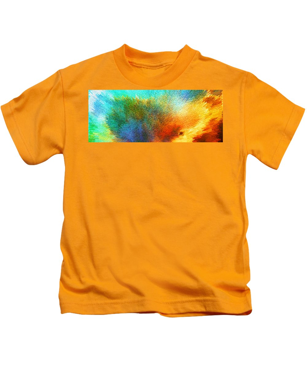 Space Kids T-Shirt featuring the painting Color Infinity - Abstract Art By Sharon Cummings by Sharon Cummings