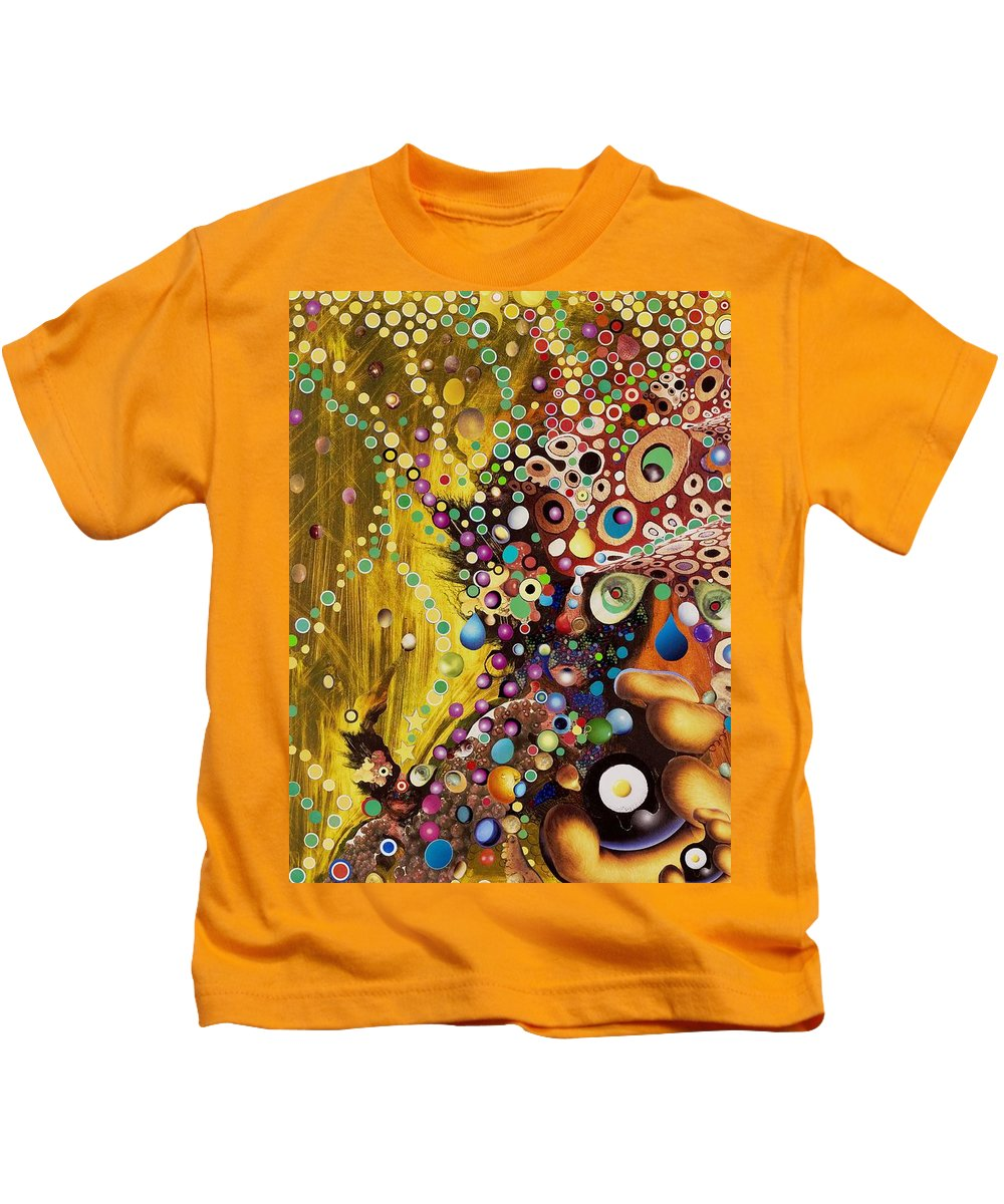 Portrait Kids T-Shirt featuring the mixed media Color Intoxication Remix by Douglas Fromm