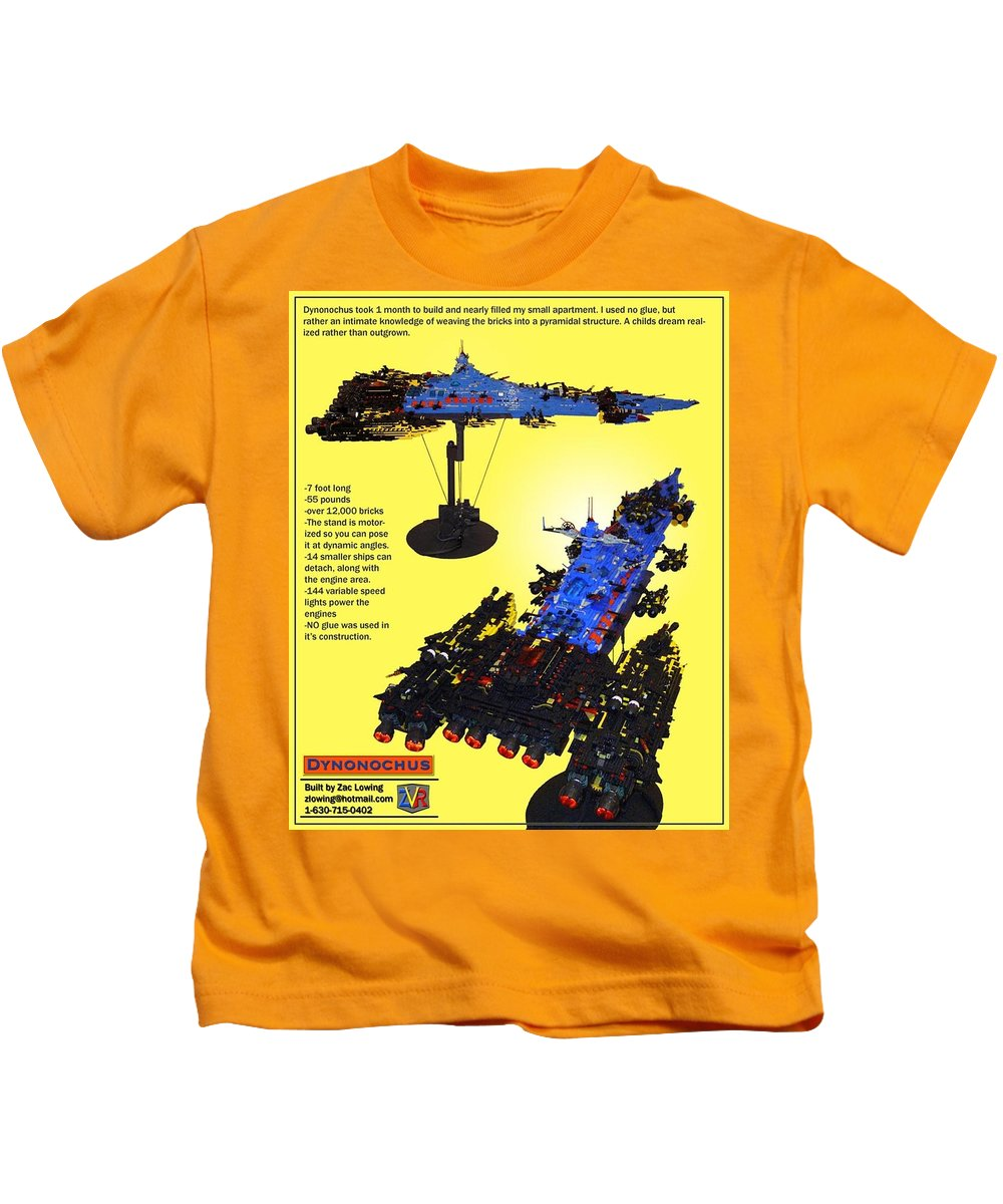 Legos Kids T-Shirt featuring the photograph Dynonochus Flyer Back by Zac AlleyWalker Lowing