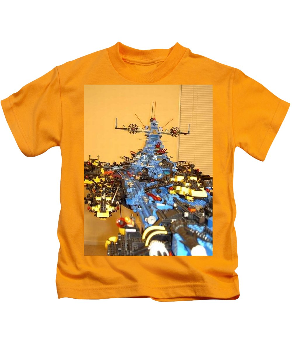 Legos Kids T-Shirt featuring the photograph Dynonochus Maincastle Shot by Zac AlleyWalker Lowing