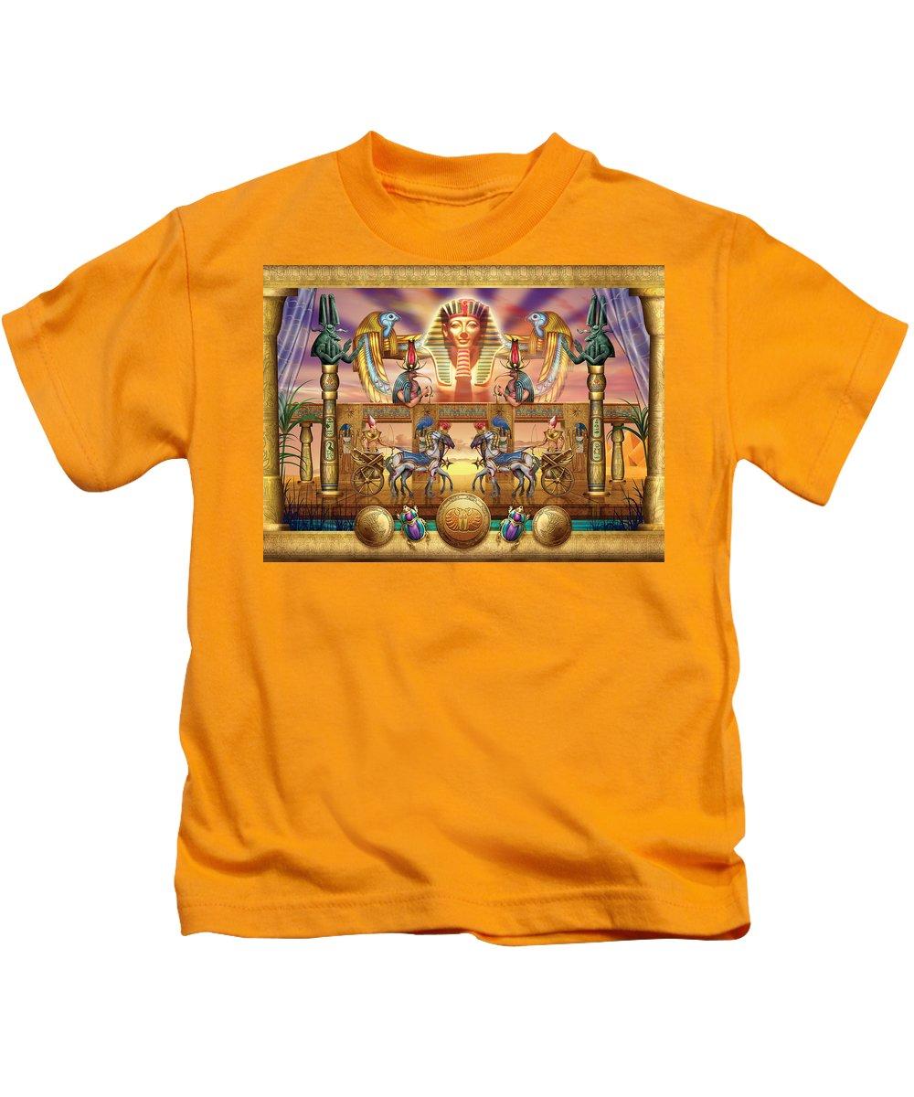 Authority Kids T-Shirt featuring the digital art Egyptian by Ciro Marchetti