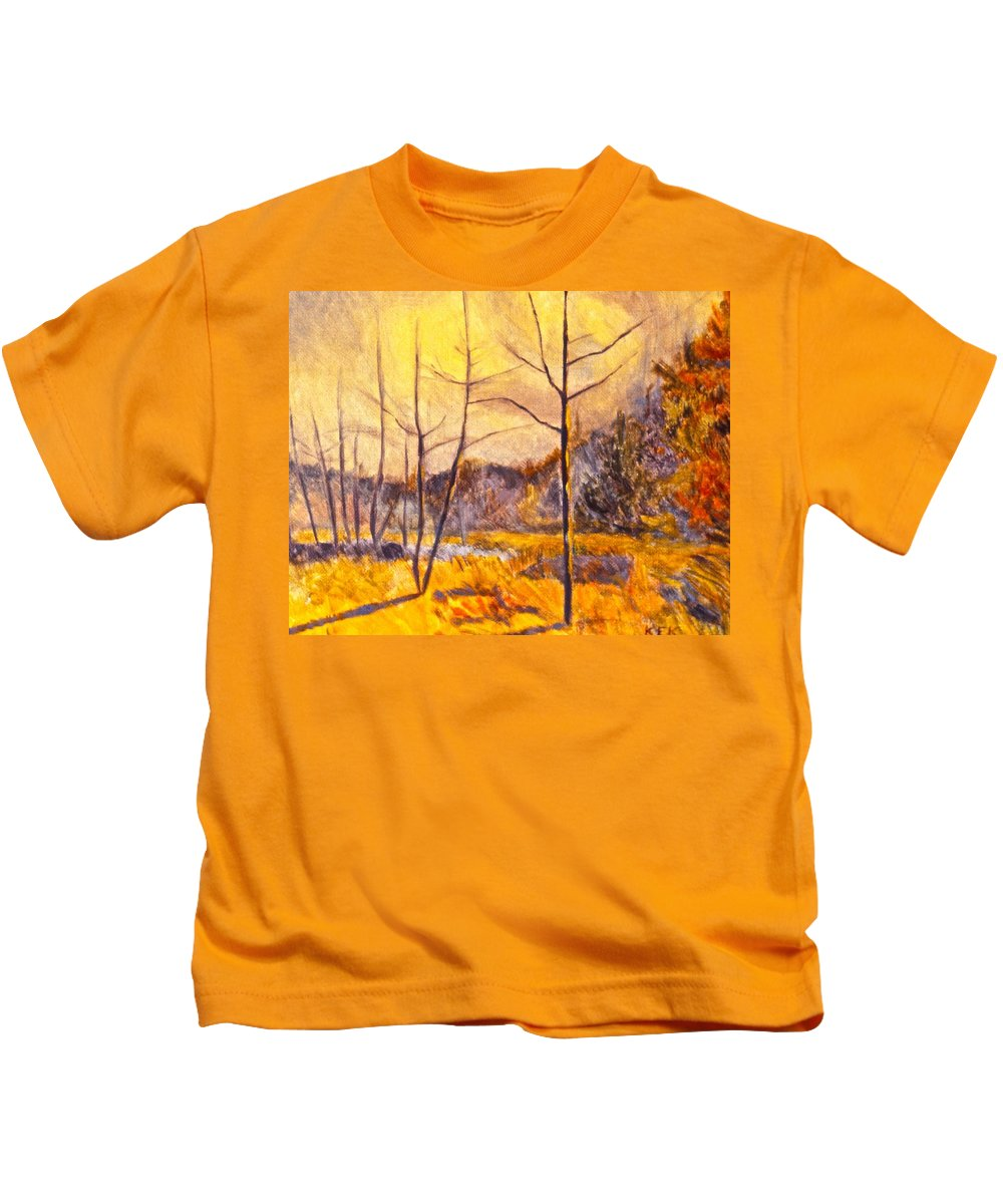 Landscape Kids T-Shirt featuring the painting Ferrum by Kendall Kessler