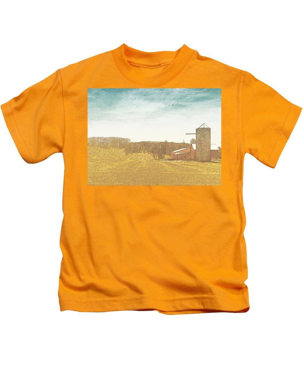Farm Kids T-Shirt featuring the mixed media Field Of Plenty by Lisa Brandel