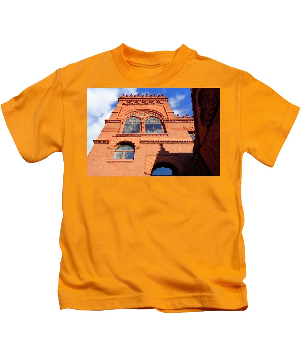Joseph Skompski Kids T-Shirt featuring the photograph Furness Library by Joseph Skompski