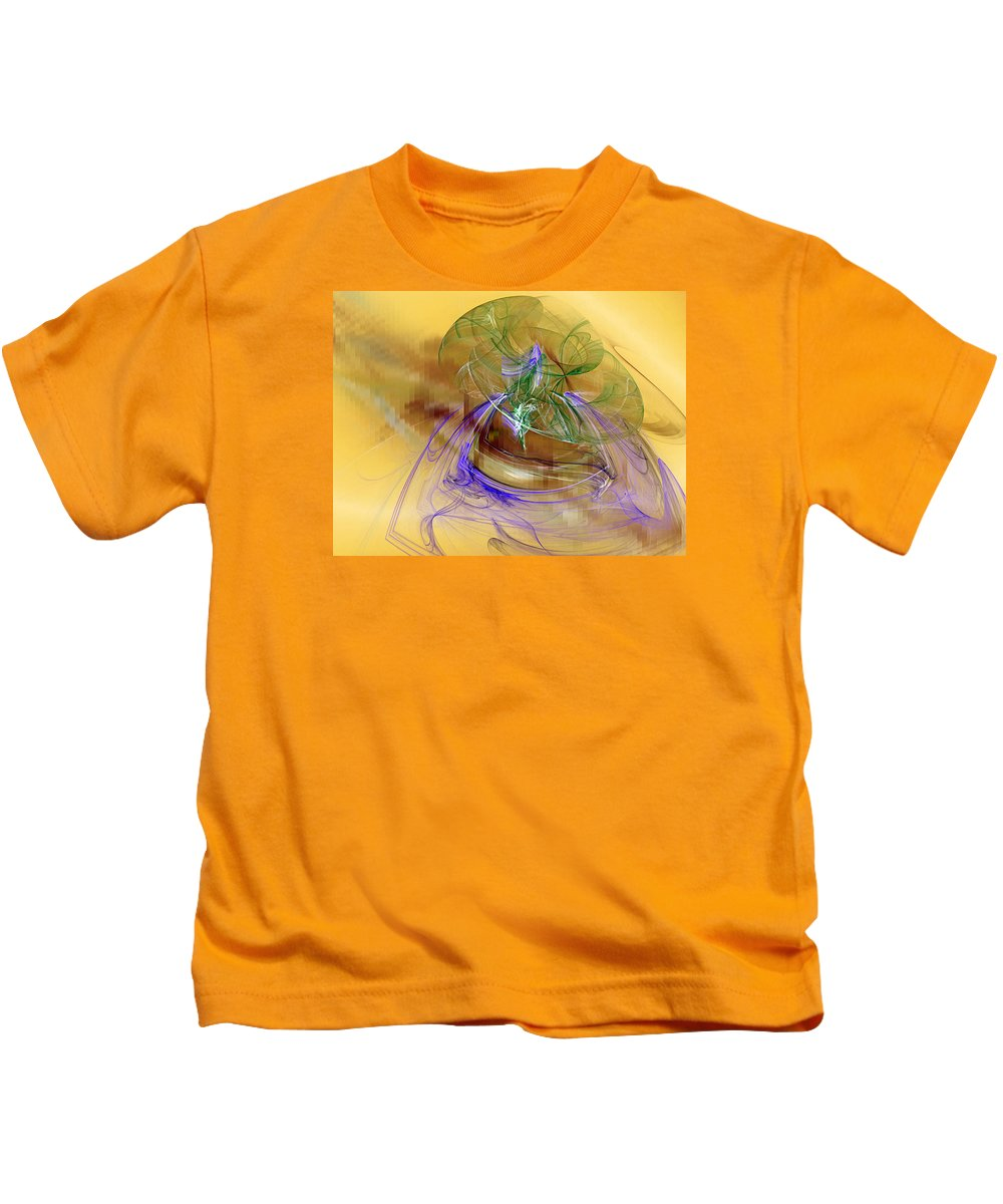 Abstract Kids T-Shirt featuring the digital art Holiday In Cambodia by Jeff Iverson