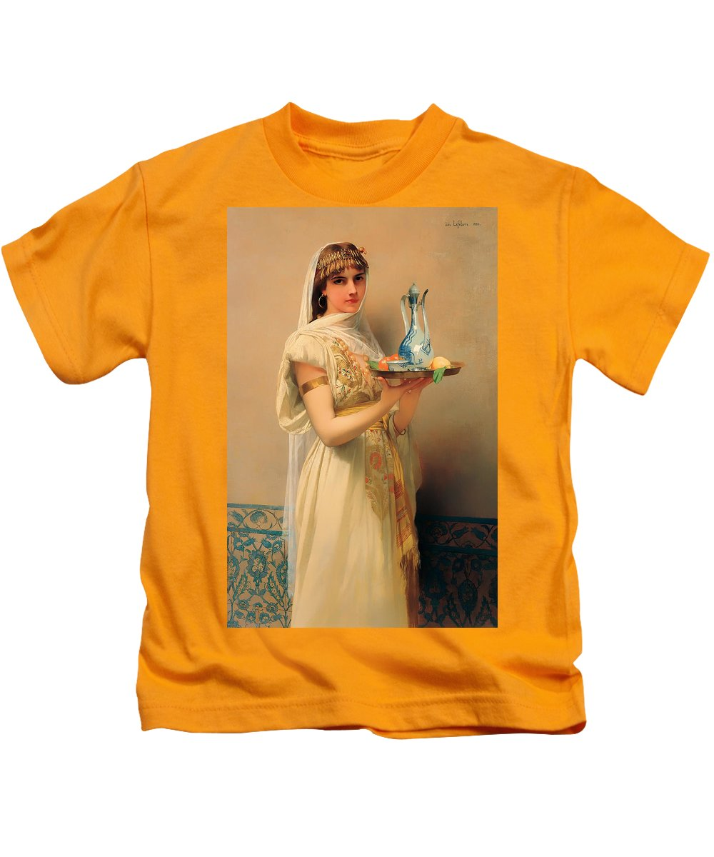 Painting Kids T-Shirt featuring the painting Housemaid by Mountain Dreams