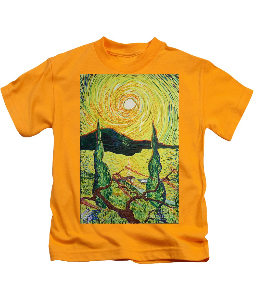 Landscape Kids T-Shirt featuring the painting I Cry For You by Stefan Duncan