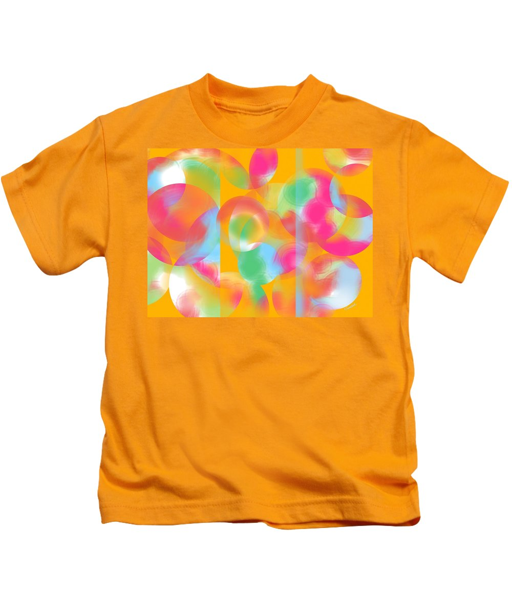 Abstract Kids T-Shirt featuring the painting Inner Circle by Christine Fournier
