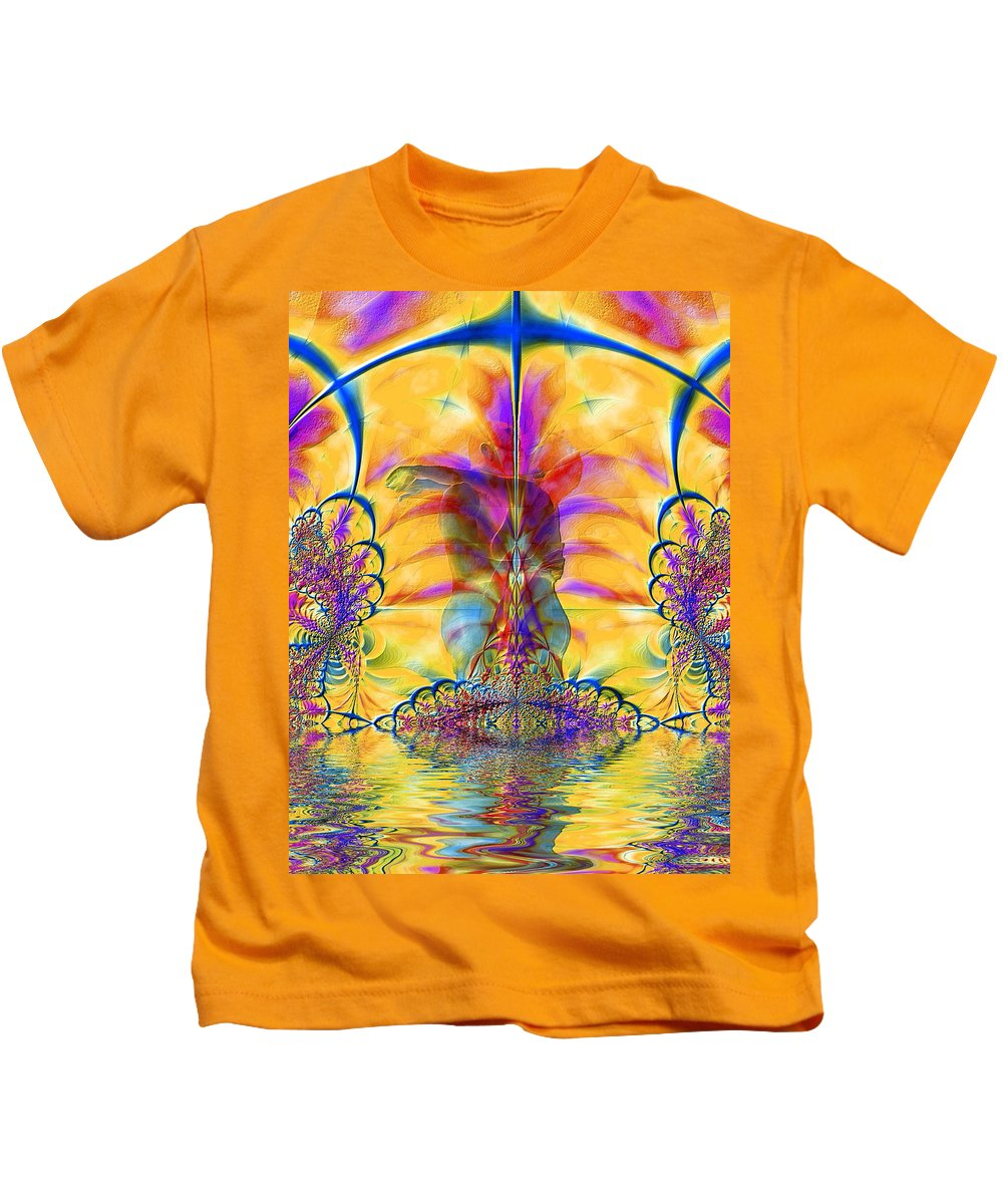 Nude Kids T-Shirt featuring the photograph Liquid Lace by Kurt Van Wagner