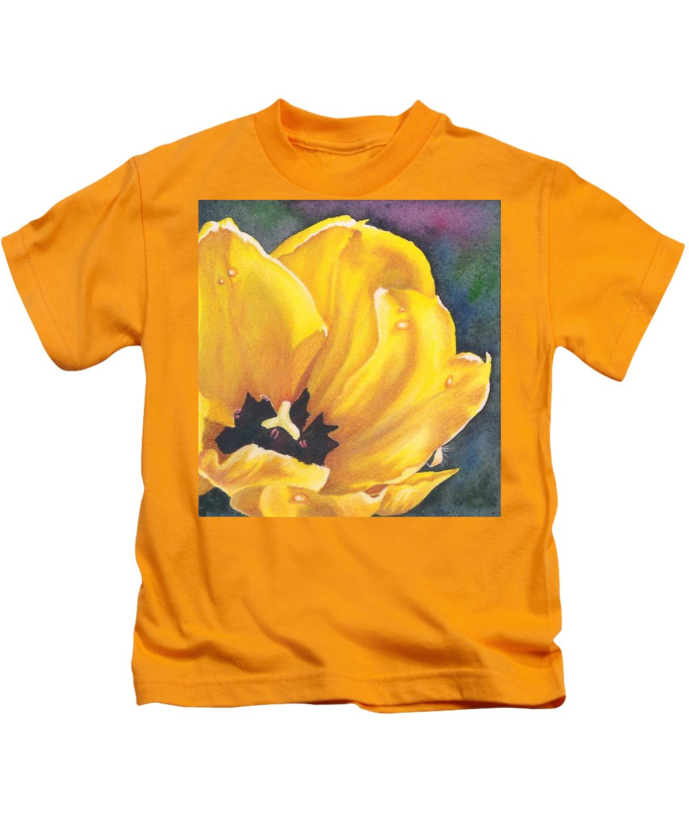Flower Kids T-Shirt featuring the painting Morning Dew by Charne Gooch
