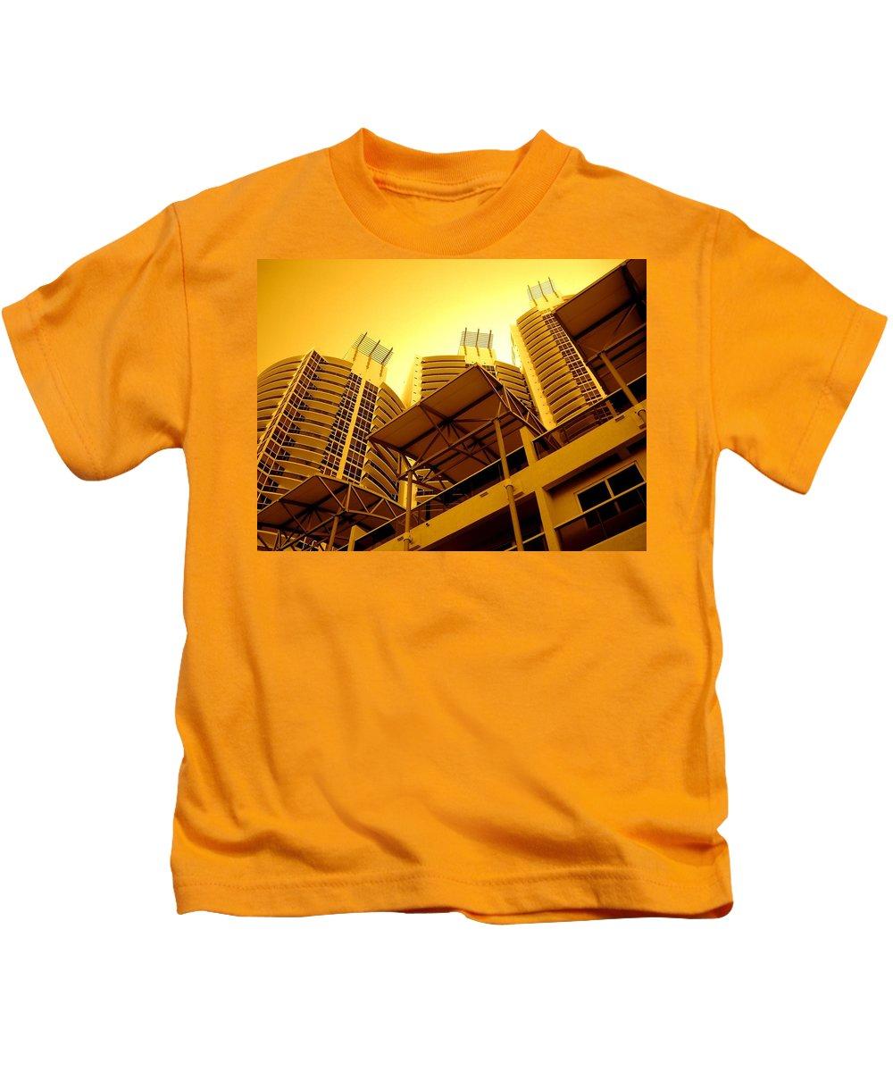 Murano Building Miami Print Kids T-Shirt featuring the photograph Murano Grande, Miami by Monique's Fine Art
