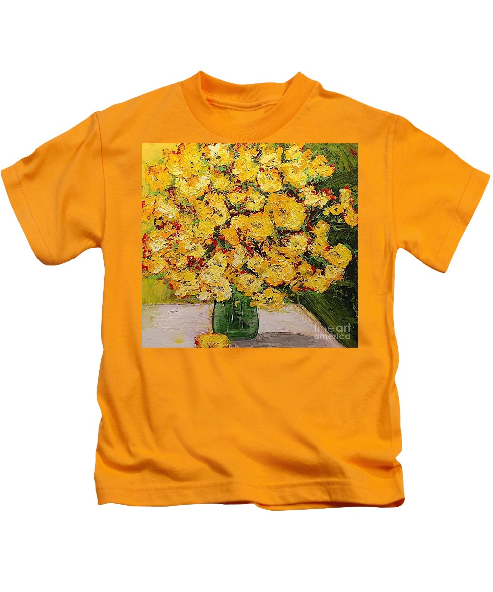 Landscape Kids T-Shirt featuring the painting New Beginnings by Allan P Friedlander