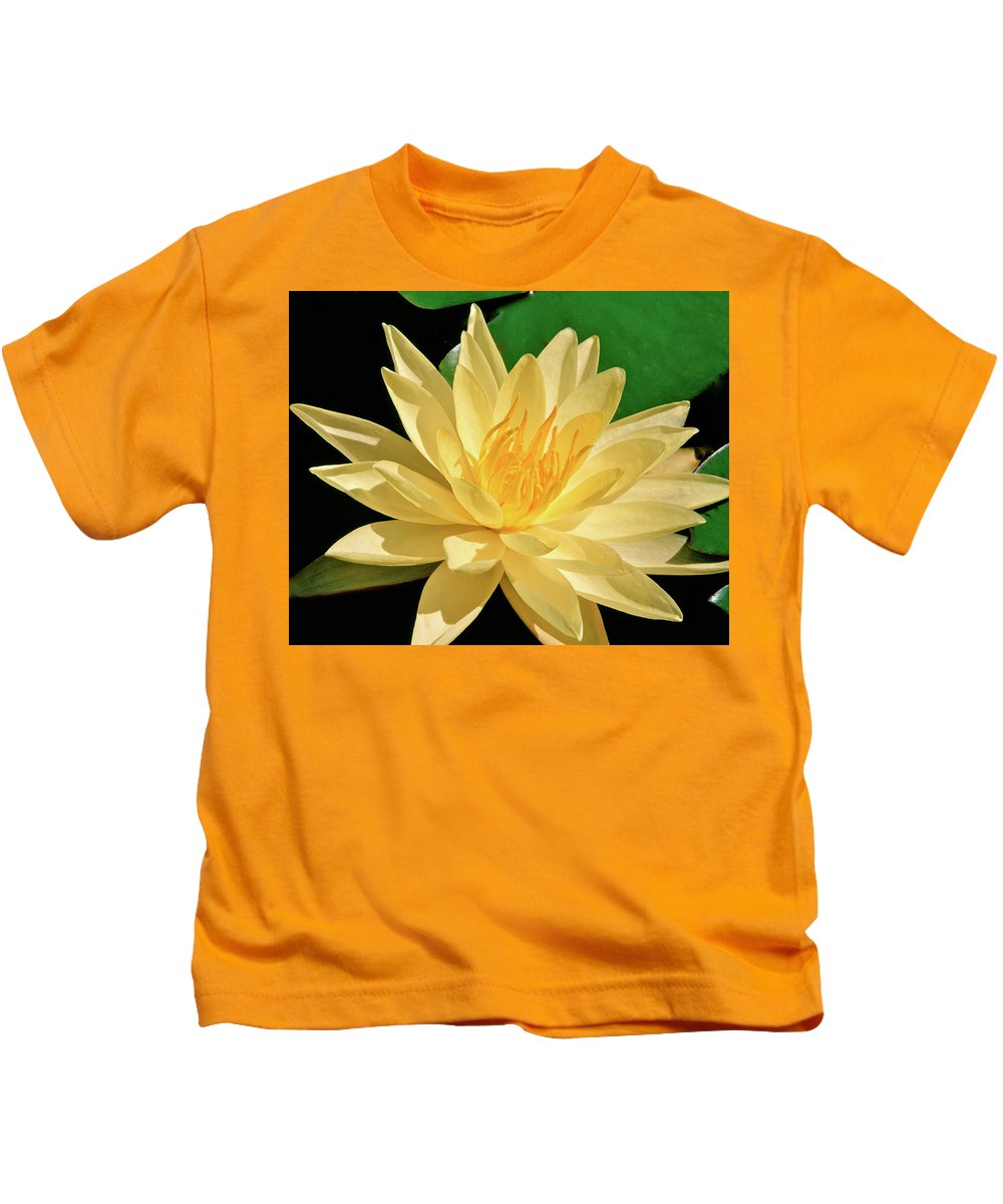 Water Lily Kids T-Shirt featuring the photograph One Water Lily by Ed Riche