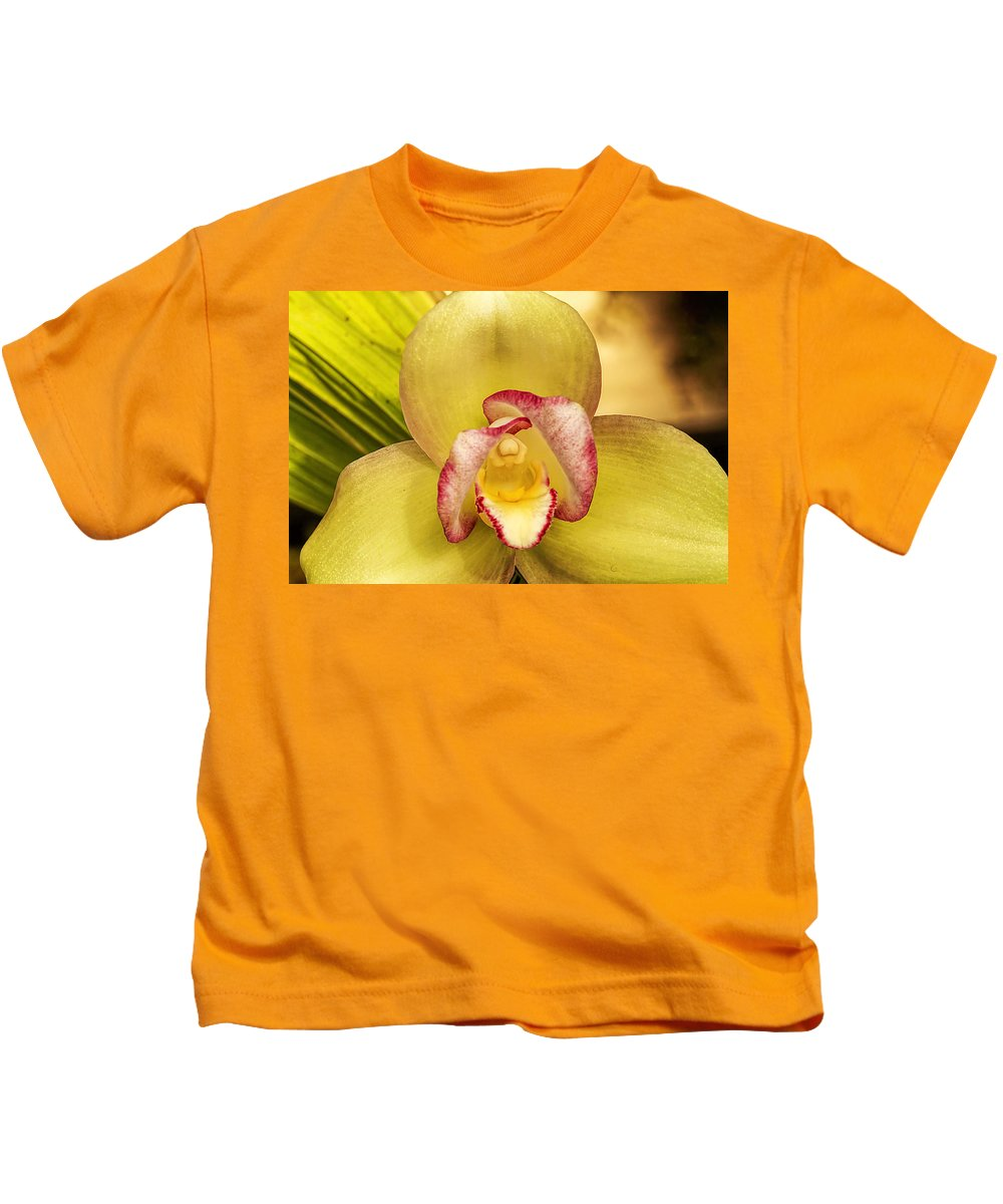 Recent Kids T-Shirt featuring the photograph Orchid Series 1 by Geraldine Scull