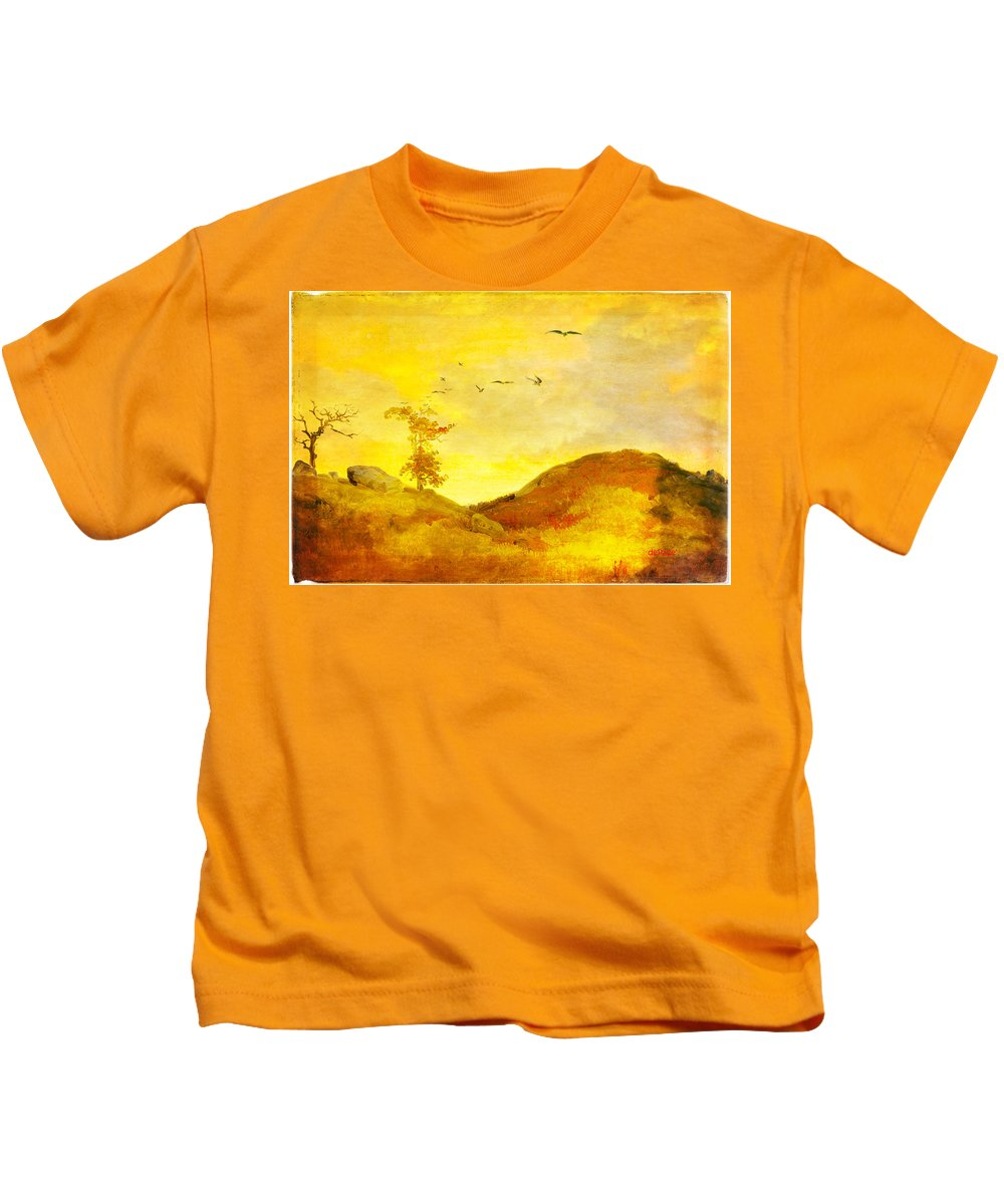 Pastoral Scene Kids T-Shirt featuring the digital art Pastoral Scene by KJ DePace