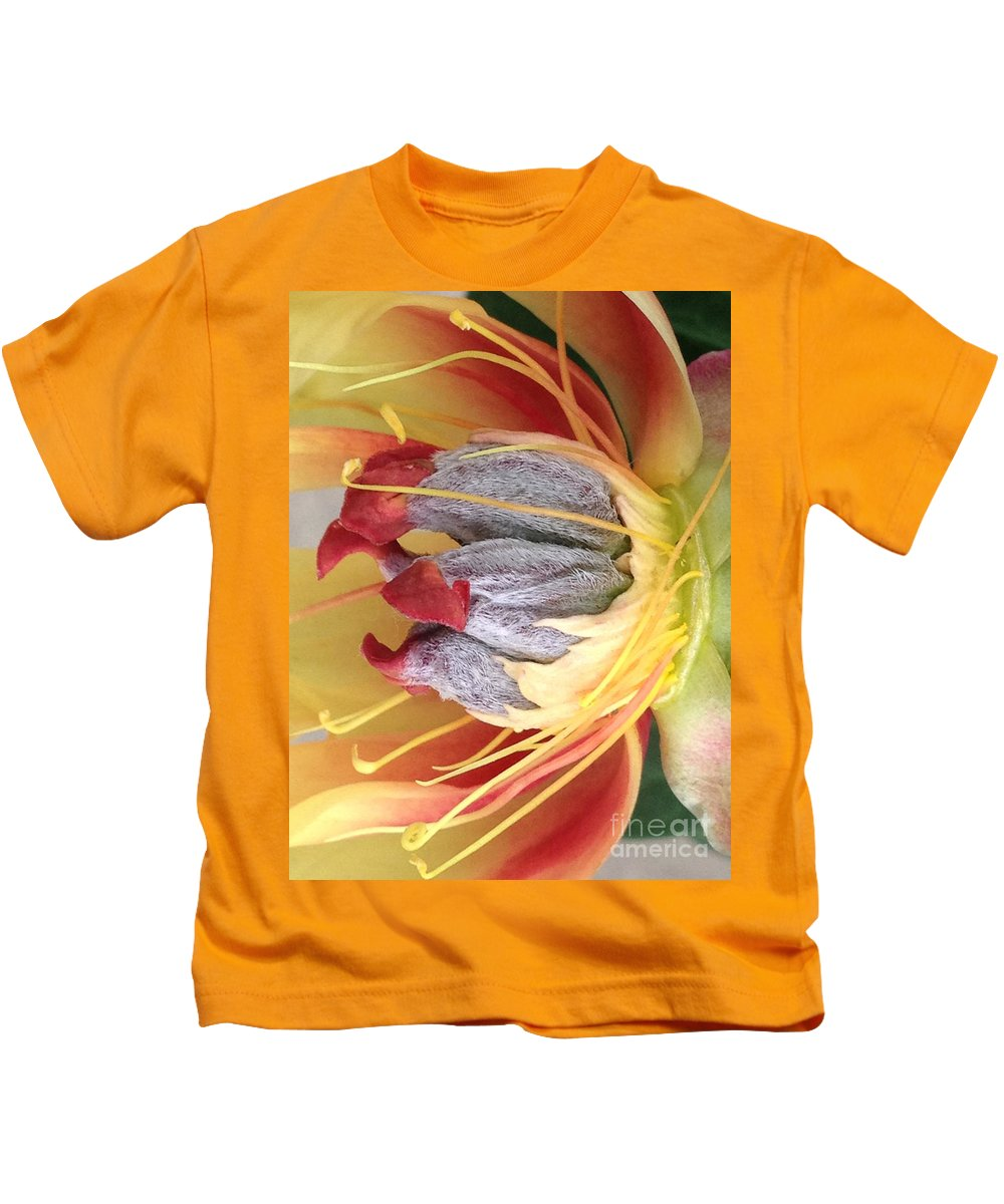 Yellow Kids T-Shirt featuring the photograph Poppy 4 by Jacklyn Duryea Fraizer
