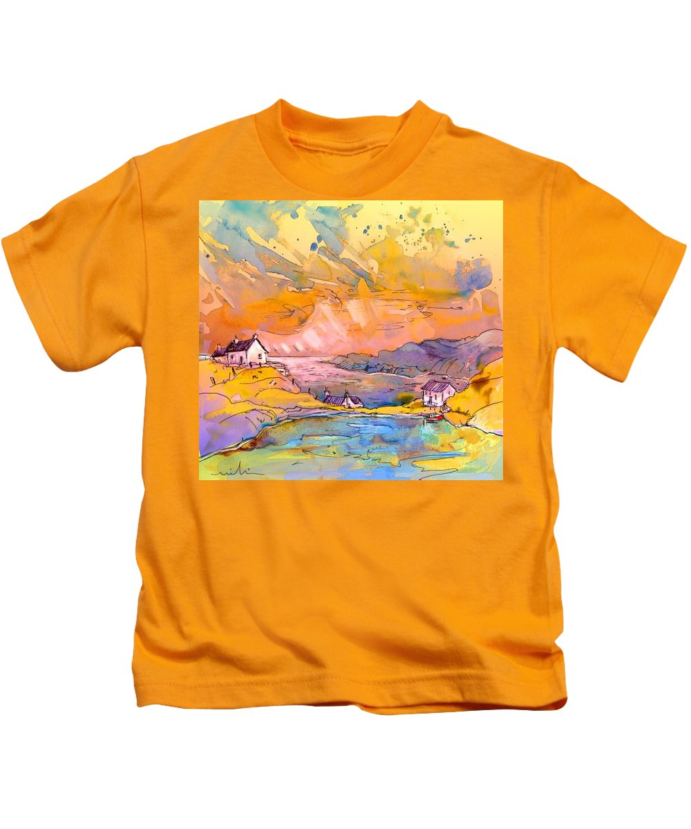Scotland Kids T-Shirt featuring the painting Scotland 27 Bis by Miki De Goodaboom