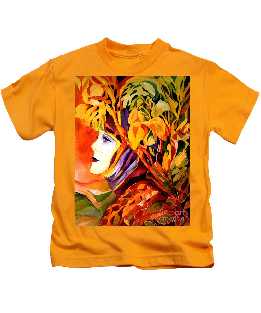 Spring Kids T-Shirt featuring the painting Serenity by Carolyn LeGrand